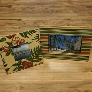 Fabric picture frame set